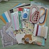 Scrapbooking and crafting shop with lots of paper, ribbon, buttons, etc