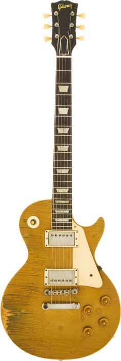 1958 Gibson Les Paul Standard Gold Top Solid Body Electric Guitar