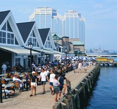 Halifax ~ The Waterfront - Quaint shops, musicians singing and playing, restaurants, great harbor views.Definitely a place to spend some time on a trip to Halifax! Halifax Waterfront, Canada Cruise, Canada Travel, Nova Scotia, Oh The Places You'll Go, Places To Travel, Ottawa, Quebec Montreal, Voyage