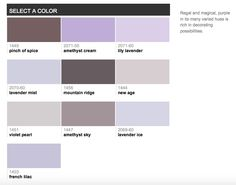 Benjamin Moore best selling purples 2015