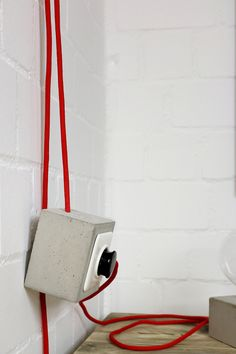 Steckdose aus Beton grau |  Türstopper aus Beton von Alexej Nagel auf DaWanda.com