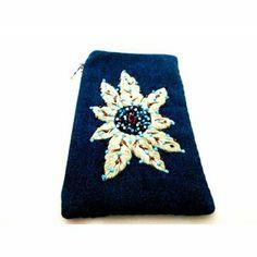 designer phone case purse- iPurse-beautiful handmade, beaded, embroider and hand painted  on silk, leather purses from -iPurse-  iPurse®