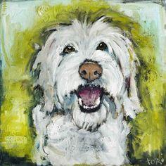 Smiley Dog Canvas Print