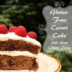 Gluten-Free Carrot Cake with Goat Cheese Icing #Recipe | This West Coast Mommy