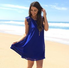 Enchanted Dress In Royal Blue