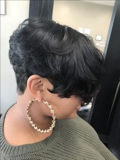 Love fashion hair and makeup? FPC help you find the best fashion wigs and makeup products . Short Sassy Hair, Short Curls, Short Hair Cuts, Short Hair Styles, Dope Hairstyles, Short Black Hairstyles, My Hairstyle, Wedding Hairstyles, Meagan Good