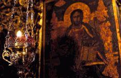Ο λεγων αυτην την ευχην καθε εσπερας, μετα κατανυξεως, εαν επελθη επ' αυτον η φοβερα ωρα του θανατου εν τη νυκτι ταυτη, λυτρουται της κολασεως, ελεει Θεου. Orthodox Prayers, Frida And Diego, Ceiling Lights, Instagram Posts, Painting, Art, Art Background, Painting Art, Kunst