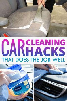 Car Cleaning Tricks That Your Body Shop Won't Tell You About. By using some everyday items and a little common sense, you can clean your car better than your local body shop ever could. Cleaning Inside Of Car, Car Cleaning Hacks, Deep Cleaning Tips, Car Hacks, House Cleaning Tips, Diy Cleaning Products, Spring Cleaning, Car Interior Cleaning, Car Products