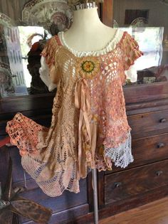 Talk about Boho chic! This I love!Lucys Desert Sunset Tunic  by Luv Lucy by TheVintageRaven on Etsy, $165.00