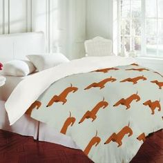 DENY Designs Home Accessories | Nicole Martinez Dachshunds Tooth Duvet Cover - guest bed