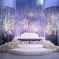 Silver Bubbles Beaded Curtains create this UNBELIEVABLE sparkle! Silver Bubbles Beaded Curtains create this UNBELIEVABLE sparkle! ✨ We have this and more and our talented fabrication te. Wedding Hall Decorations, Desi Wedding Decor, Luxury Wedding Decor, Wedding Reception Backdrop, Wedding Receptions, Wedding Mandap, Sparkle Decorations, Indian Reception, Wedding Ideas