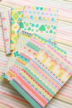 Colourful Geometric Forest Notebooks
