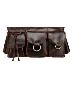 5f634e3e9da5c Brown Adonis Genuine Leather Waist Bag Leather Fanny Pack