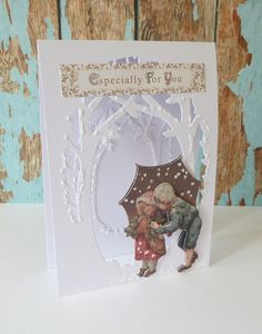 Used Victorian Christmas A4 Ultimate Die Cut and Paper Pack plus the Xcut build a scene set.