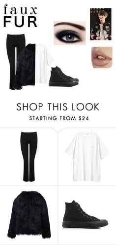 """""""HAPPY BRITHDAY TAEHYUNG"""" by stigma-v on Polyvore featuring M&Co, H&M and Converse"""