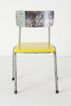 Transfer images onto a plastic or wood chair? Might have to try it. This chair is ridiculously expensive.