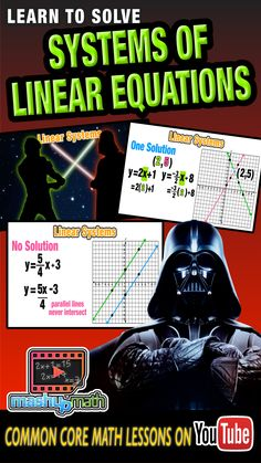 So it turns out that lightsabers are not the only things that can intersect. Join us on this Star Wars-themed common core algebra lesson on finding the solution to a system of linear equations. For more awesome animated math lessons, check out our YouTube channel and be sure to subscribe--we add new lessons every week!