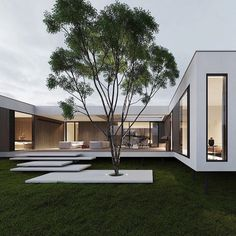 """Dope or nope? The House is a 230 sqm. modern home proposed to be built this year. Being placed on stilts, the main characteristic of the house is its visual impression of being a """"floating"""" home. The house is designed and visualized by Modern Architecture House, Modern House Design, Architecture Design, Container Architecture, Modern Exterior, Exterior Design, Modern Architects, Dream House Exterior, Mansions Homes"""