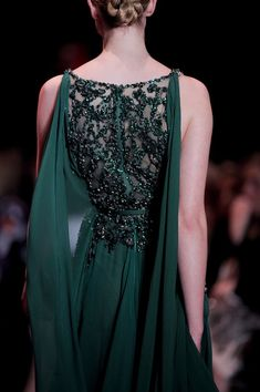 Emerald evening gown.  www.foreveryminute.com Luxury Silk Lounge and Sleepwear