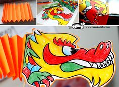 paper dragon craft with free printable