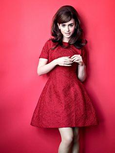 Лили Коллинз — Glamour UK 2013
