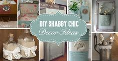 Shabby Chic Bottle Decoration This is a very speedy and cost-effective tutorial that will help you put your old bottles or jars to good use! Description from cutediyprojects.com. I searched for this on bing.com/images