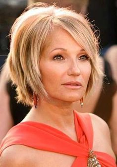 Layered Short Haircuts for Mature Ladies
