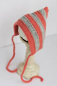 READY+TO+SHIP+Striped+Coral+&+Grey+Crochet+by+MistysLittlePretties,+$20.00