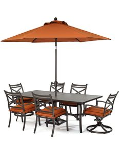 Holden Outdoor Patio Furniture Dining Set Powder Coated