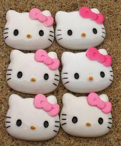 Hello Kitty Pink Bow Resin Cabochon DIY 47mm | EvezBeadz.artfire.com (on SALE!!)