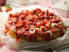 Reispudding-Torte mit Erdbeeren - Rezept