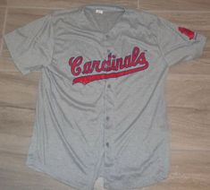 f7f6150d9 1956 THROWBACK JERSEY sga Giveaway St Louis Cardinals Mens XL road grey NEW   StLouisCardinals  StLouisCardinals