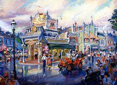 1920s Main Street, Disneyland Paris (never built) - Dan Goozeé