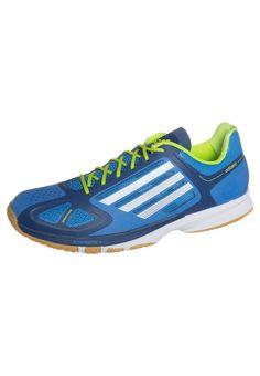 adidas Performance adiZERO FEATHER PRO - Handballschuh - solar blue/running white - Zalando.de #AD542A1AV-L11 #adidas Performance #null #blau #handball #hallenschuh #halle #leicht #stabil #blau #gelb #neon - Handball spielen - Handball spielen