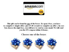 Enter to win a free 25$ Amazon gift card!  http://freeamazoncards.co.nr/  I already received two cards from this offer (you can try it weekly). Happy shopping!
