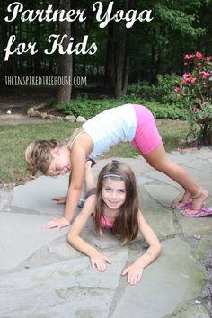 Partner yoga for kids       #KidsYoga http://iandarrah.com/