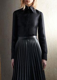 Céline pleated skirt