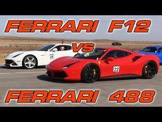 VIDEO: Ferrari F12 Berlinetta vs. Ferrari 488 GTB (1/2 Mile) http://torquetube.net/2016/11/12/video-ferrari-f12-berlinetta-vs-ferrari-488-gtb-12-mile/