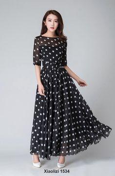 polka dot dress, illusion prom dress 1534