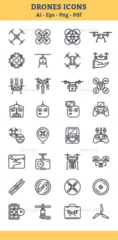 Quadrocopter, #Multicopter, Drone #Icons - Icons