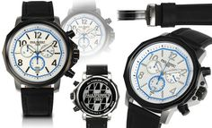 Paul Perret Swiss Chronograph Voltaire Mens Watch