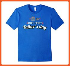 Mens Our First Father's Day T-Shirt - New Dad Gift XL Royal Blue - Holiday and seasonal shirts (*Partner-Link)