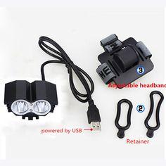 Wasserdichte 5000LM X2 XM-L T6 LED Fahrrad USB Kopf Licht Lampe angeln + stirnband Accesorios para bicicletas
