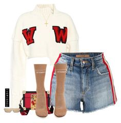 """""""io"""" by ivorionda ❤ liked on Polyvore featuring Off-White, Joe's Jeans, Tommy Hilfiger, Dolce&Gabbana, Vetements and Bling Jewelry"""