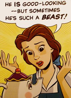 Belle and Mrs. Potts - disney-princess Fan Art