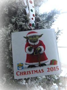 Star Wars Yoda Christmas 2015 Glass Ornament by ThinkGeekz on Etsy
