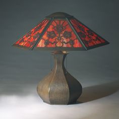 Image detail for -... Auction Center Image 1 LIMBERT faceted copper table lamp with bulbous