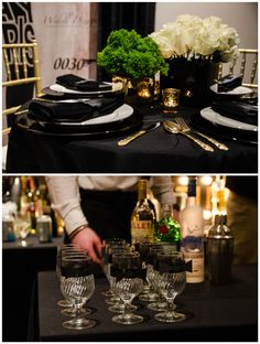 Throw a posh and sophisticated James Bond 30th Birthday Party like this one!