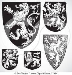 Medieval Shield Ornaments Royalty Free Vector Image Sponsored Ornaments Shield Happy New Year Medieval Tattoo, Diy Tattoo, Tattoo Sleeve Designs, Sleeve Tattoos, Illustration Tattoo, Medical Illustration, Shield Tattoo, Knight Shield, Medieval Shields