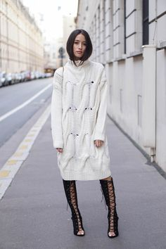 Alex's Closet - Blog mode et voyage - Paris | Montréal: ROBE PULL белый платье